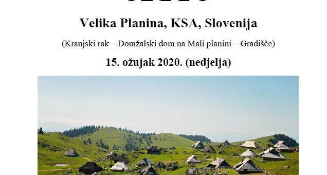 IZLET; VELIKA PLANINA, 15.03.2020.